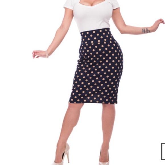 Steady Polka Dot Skirt Rockabilly Pinup Plus Size e906d24c5
